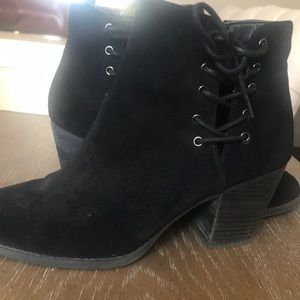 Jessica Simpson black suede booties